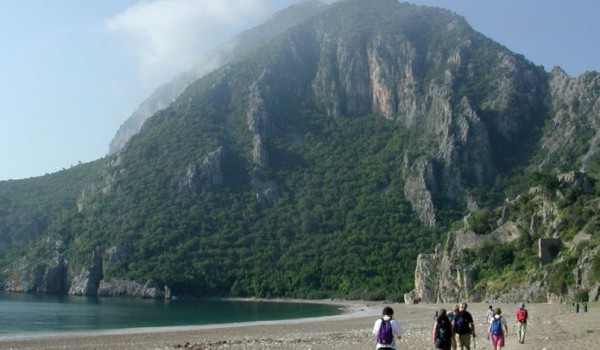 Cirali Walkers On Beach