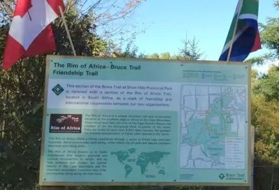 New Friendship Between The Bruce Trail And Rim Of Africa Trail.