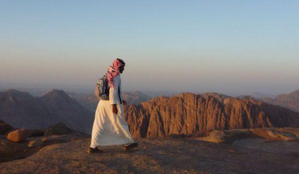 Bedouin Guide At Sunset, Near Mt Sinai, Sinai Trail